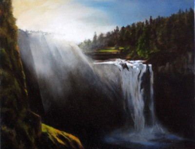 Morning Mist, Snoqualmie Falls 11x14